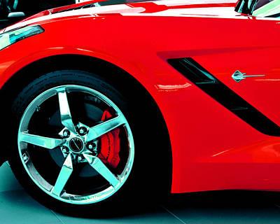 Xl Red Chevy Corvette Front Dream Car Original