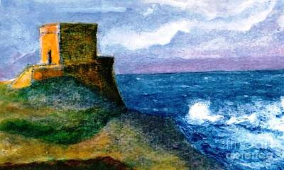 Painting - Xlendi Tower - Gozo by Marco Macelli