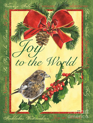 Titmouse Painting - Xmas Around The World 2 by Debbie DeWitt