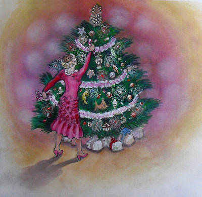 Painting - Xmas Auntie by Jack Adams