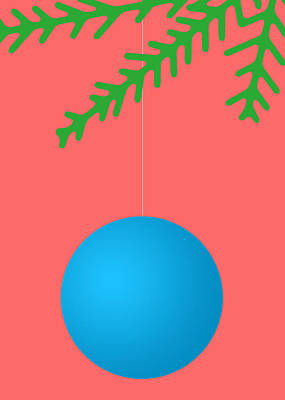 Digital Art - Xmas Blue Ball by Stan  Magnan