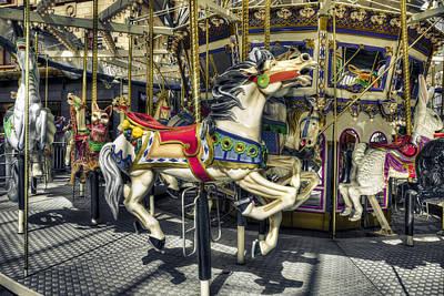 Photograph - Xmas Carousel by Wayne Sherriff