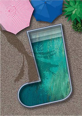 Digital Art - Xmas Stocking Pool by Stan  Magnan