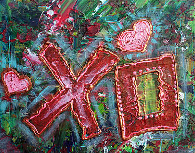 Modern Painting - XO by Laura Barbosa