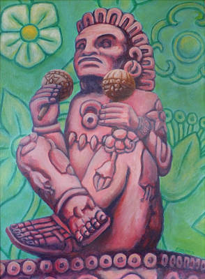 Mexican Tapestry Painting - Xochipilli - Prince Of Flowers by Emiliano Campobello