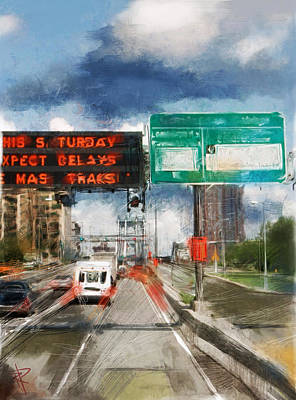 Mixed Media - Xpect Delays by Russell Pierce