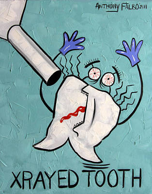 Art Paper Painting - Xrayed Tooth by Anthony Falbo