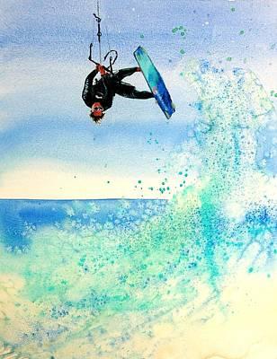 Lynee Sapere Wall Art - Painting - Xtreme Big Air by Lynee Sapere