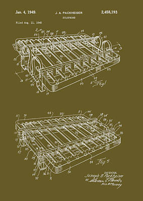 Xylophone Patent 1949 Art Print by Mountain Dreams