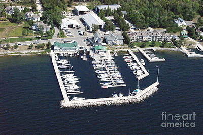 Photograph - Y-003 Yacht Works Marina To East Sister Bay Wisconsin by Bill Lang