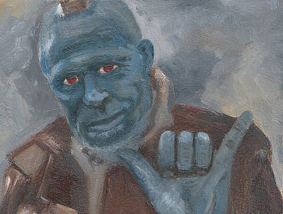 Painting - Y Is For Yondu by Jessmyne Stephenson
