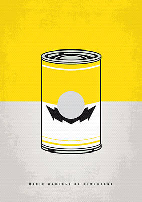 Super Mario Bros Art Digital Art - Y Mario Warhols Minimal Can Poster-wario by Chungkong Art