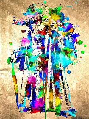 Oda Mixed Media - Y Oda Grunge by Daniel Janda