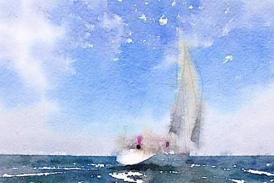 Yacht 2 Art Print