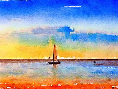 Yacht 3 Art Print