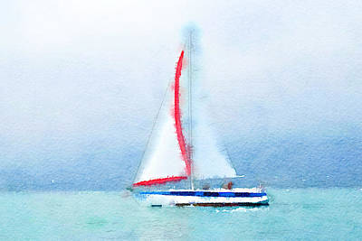 Yacht 4 Art Print