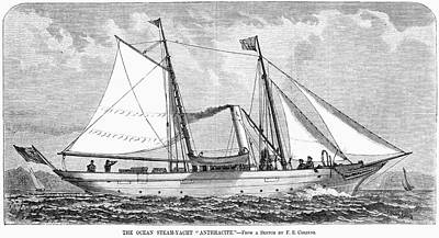 Painting - Yacht Anthracite, 1880 by Granger