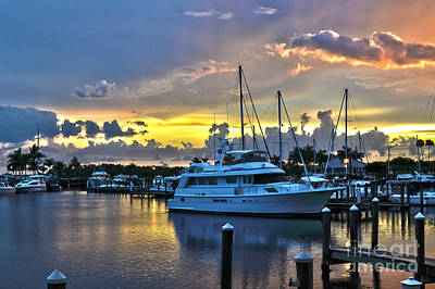 Art Print featuring the photograph Yacht At Cape Coral Florida Marina And Resort 2 by Timothy Lowry