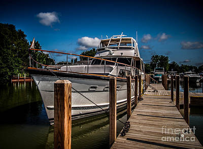 Photograph - Yacht At Dock by Ronald Grogan