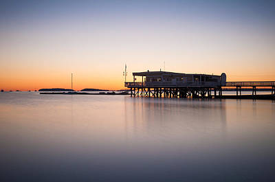 Photograph - Yacht Club At Sunrise by Lee Costa