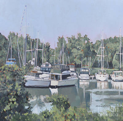 Painting - Yacht Club The Bluffs by Joan McGivney