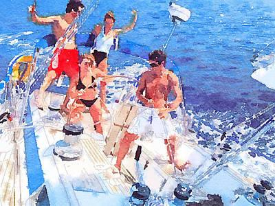 Yacht Driving Art Print
