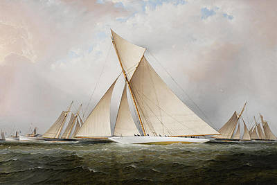 Location Painting - Yacht by James Edward Buttersworth