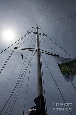 Yacht Mast With Sun Art Print by Avalon Fine Art Photography
