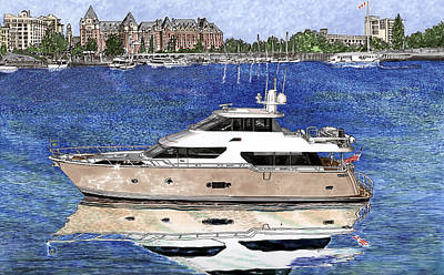 Painting - Yachting Victoria Bc by Jack Pumphrey