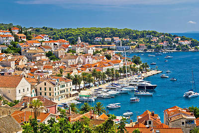 Photograph - Yachting Waterfront Of Hvar Island by Brch Photography