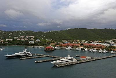 Photograph - Yachts And St Thomas by Willie Harper