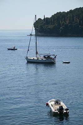 Yachts At Anchor Art Print