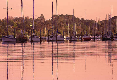 Photograph - Yachts At Dawn by Gordon  Grimwade