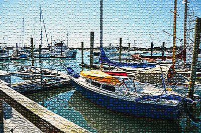 Swansboro Painting - Yachts In A Port 2 by Lanjee Chee