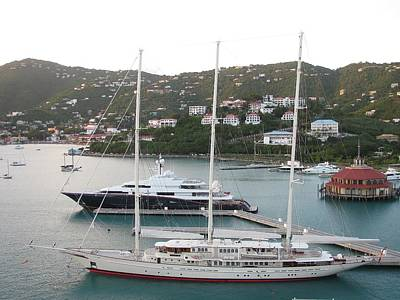 Photograph - Yachts In St. Thomas by Steven Parker