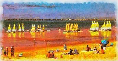 Mauritius Digital Art - Yachts Waiting by Mick Flynn