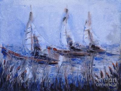 Painting - Yachts by Zaira Dzhaubaeva