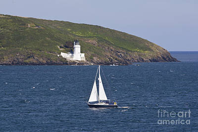 Photograph - Yachting Past St Anthony Head Cornwall by Terri Waters