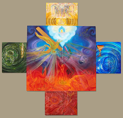 Painting - Yahweh El Shaddai by Anne Cameron Cutri