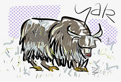 Yak Digital Art - Yak by Brett LaGue