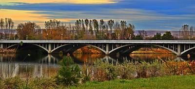 Yakima Bridge 2 Art Print by Lynn Hopwood