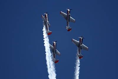 Photograph - Yakovlevs Formation Flying by Ramabhadran Thirupattur