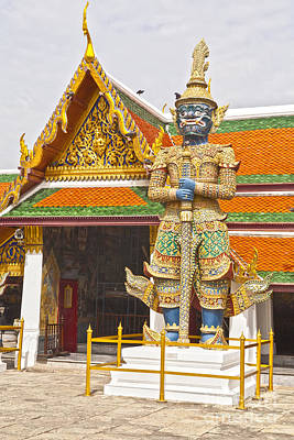 Photograph - Yaksha Figure Wat Phra Kaew                   by Colin and Linda McKie