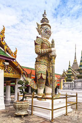 Photograph - Yaksha Figure Wat Phra Kaew Bangkok by Colin and Linda McKie