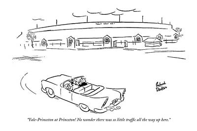 Competition Drawing - Yale-princeton At Princeton! No Wonder by Richard Decker
