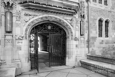 Photograph - Yale University Davenport College Gate by University Icons