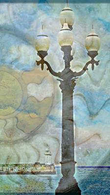 Photograph - Yalta Lighthouse And Lamppost  by Rick Todaro