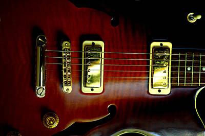 Photograph - Yamaha Hollowbody 2 by David Weeks