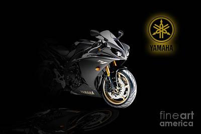 Bike Racing Digital Art - Yamaha R1 by J Biggadike