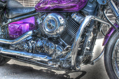 Photograph - Yamaha V Star by Andrea Kelley